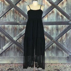 Jodifl Black Dress with Sheer Skirt